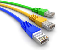 Computer Cables (clipping path included) Stock Photography
