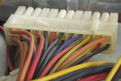 Computer cables. Royalty Free Stock Photography