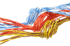 Computer cables with loops Royalty Free Stock Image