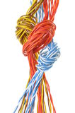 Computer cables with loops Stock Photography
