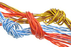 Computer cables with loops Stock Images