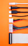 Computer cables usb Royalty Free Stock Photo
