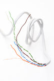 Computer cables on white background Stock Photography