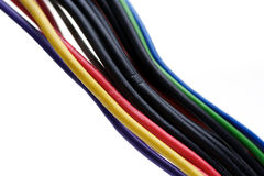 Computer cables on white background Royalty Free Stock Photography