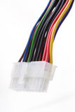 Computer cables on white background Stock Image