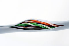 Computer cables on white background Stock Images