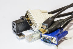 Computer cables Stock Photos