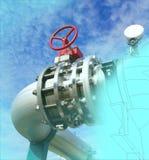 Computer cad-Design von Rohrleitungen Stockfoto