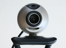 Computer cam. Computer web cam isolated with white background Stock Photos