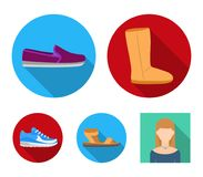 Computer, cap, atom, nucleus, bell, university building. School set collection icons in flat style vector symbol stock. Illustration Stock Images