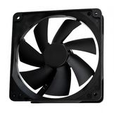 Computer case cooling fan Royalty Free Stock Images