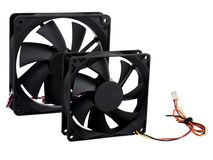 Computer case cooling fans Royalty Free Stock Photo