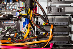 Computer case interior Stock Image