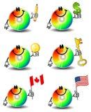 Computer CD Karikaturen Lizenzfreies Stockbild