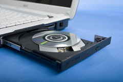 Computer and cd-rom Royalty Free Stock Photo