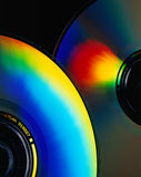 Computer CD-Rom. Close up of cd-rom with colorful reflections Stock Images