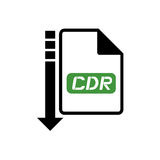 Computer cdr file icon. Creative design of computer cdr file icon stock illustration