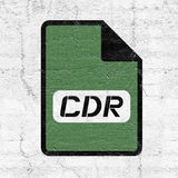 Computer cdr file icon. Design Stock Images