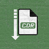 Computer cdr file icon. Design of computer cdr file icon royalty free illustration
