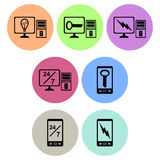 Computer and Cellphone Icon designs Stock Photography