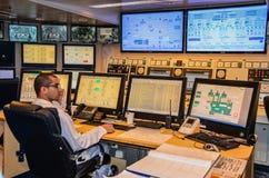 Computer Center on Cruise Ship Royalty Free Stock Photos