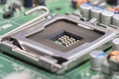 Computer central processing unit Socket Royalty Free Stock Images