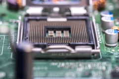 Computer central processing unit Socket Royalty Free Stock Image