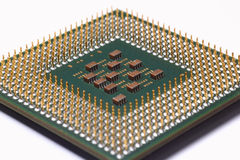 Computer Central Processing Unit on white. Close up of a Computer Central Processing Unit or CPU on white Royalty Free Stock Image