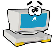 Computer Character - Crazy. Cartoon character of computer or PC Royalty Free Stock Image