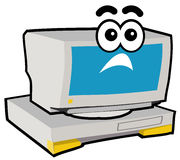 Computer Character - Shock. Cartoon character of computer or PC Royalty Free Stock Photos