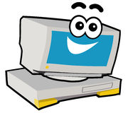 Computer Character - Smile. Cartoon character of computer or PC royalty free illustration