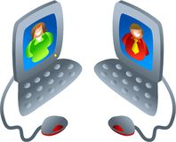 Computer chat stock illustration