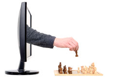Computer chess Royalty Free Stock Image