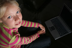 Computer child Royalty Free Stock Photos