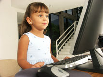 Computer child. Royalty Free Stock Image