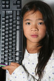 Computer child Royalty Free Stock Image