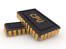 Computer chip Royalty Free Stock Photo