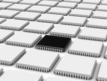 Computer chip (3d background). 3D illustration of the computer chips (can be used as a background for print or WEB Stock Photography