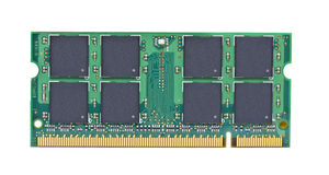 Computer Chip. A computer chip of memory for a laptop Stock Photos