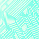 Computer Chip Background. A close up drawn vector illustration of a computer chip stock illustration