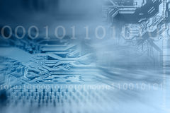 Computer chip background Stock Photo