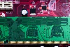 Computer chip board Stock Photo