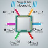 Computer chip. Business infographic.. Computer chip. Business infographic Vector eps 10 Royalty Free Illustration