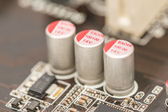 Computer Chip Capacitors And Resistors Stock Photography