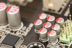 Computer Chip Capacitors And Resistors Royalty Free Stock Images