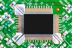 Computer chip and circuit board Stock Image