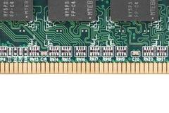 Computer chip closeup Stock Photography