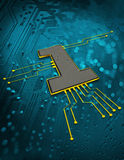 Computer chip concept Royalty Free Stock Photos