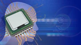 Computer-Chip 3D Lizenzfreie Stockfotos
