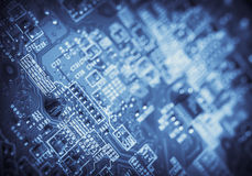 Computer chip detail Royalty Free Stock Photography